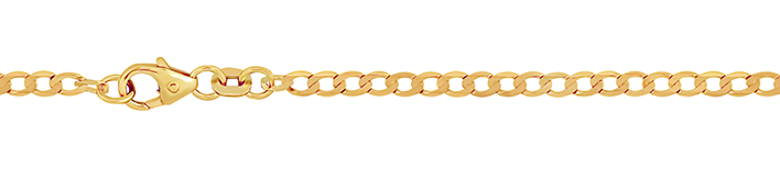 Necklet Curb chain wide chain width 2.6mm
