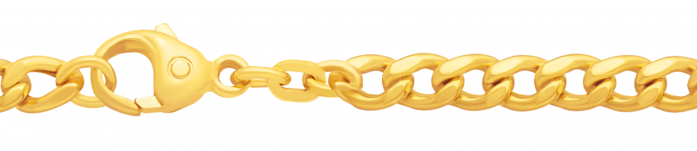 Necklet Curb chain hollow chain width 4.7mm