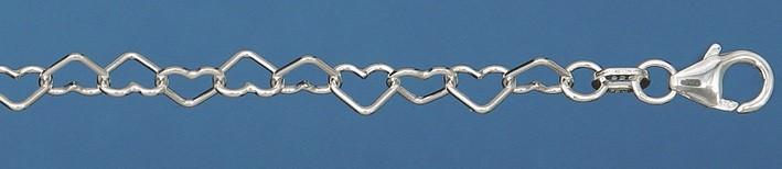 Bracelet Heart-chain chain width 4.4mm