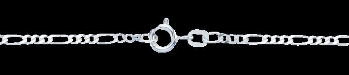Necklet Figaro diamond cut chain width 2.2mm