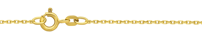 Bracelet Anchor diamond cut chain width 1.3mm