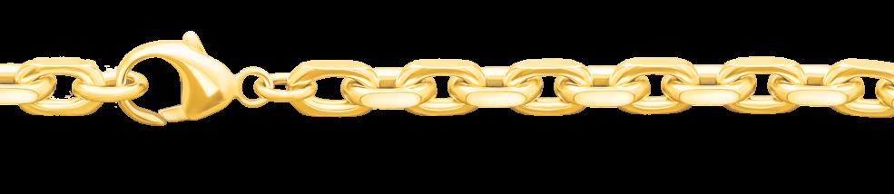 Bracelet Anchor diamond cut chain width 5mm