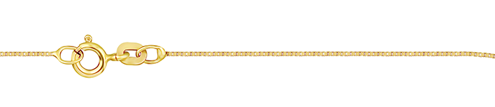 Necklet Box chain chain width 0.9mm
