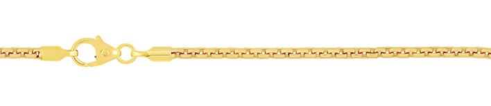 Necklet Round box chain chain width 2mm