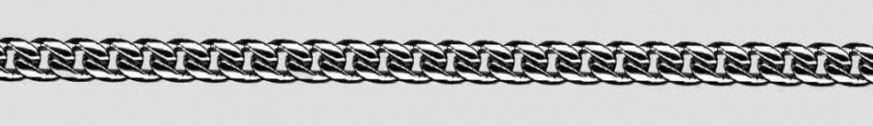 Necklet Curb chain oval diamond cut chain width 4.6mm
