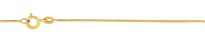 Necklet Snake diamond cut chain width 0.8mm