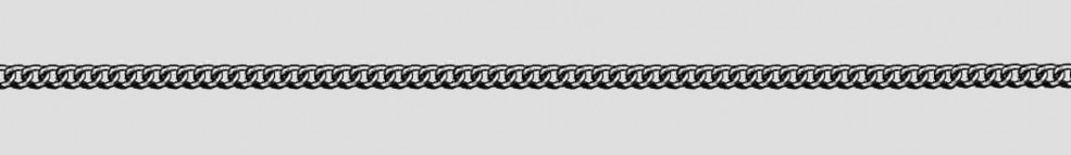 Necklet Curb chain round chain width 2.1mm