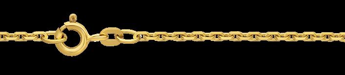 Necklet Anchor diamond cut chain width 1.9mm
