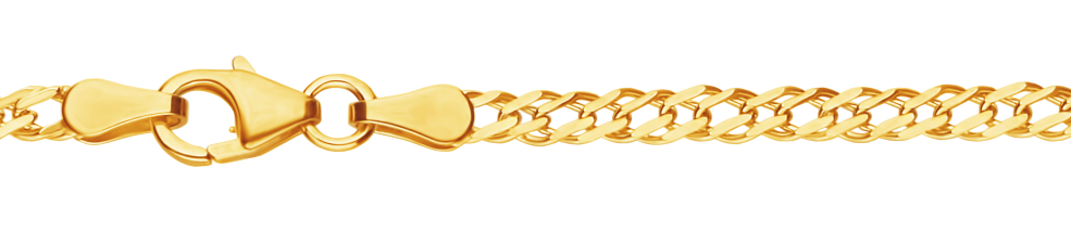 Necklet Twin curb chain chain width 2.9mm