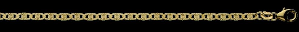 Necklet Tiger's eye chain chain width 2.7mm