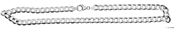 Necklet Curb Chain chain width 7.7mm