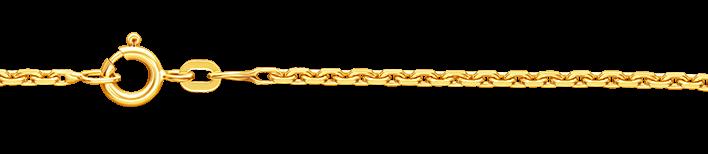 Necklet Anchor diamond cut chain width 1.6mm