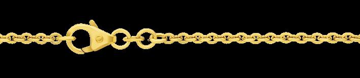 Bracelet Anchor round chain width 2mm