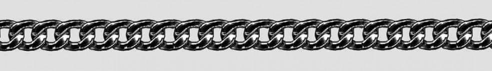 Necklet Anchor diamond cut chain width 5mm