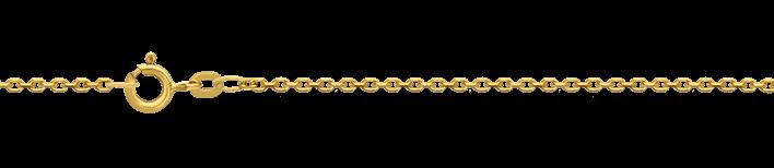 Necklet incl.loop Anchor diamond cut chain width 1.7mm