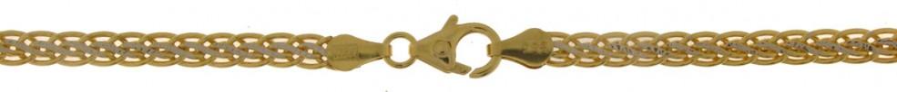 Bracelet Wheat chain hollow chain width 3.8mm