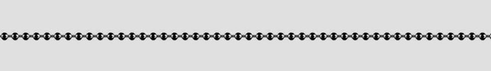 Necklet Ball chain diamond cut chain width 1.5mm