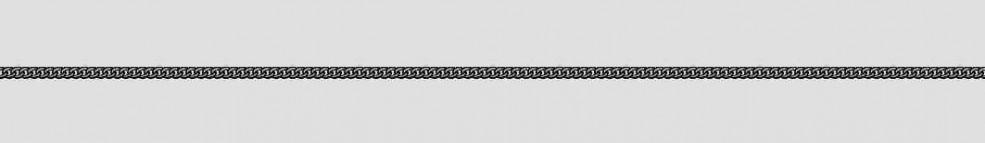 Necklet Curb chain round chain width 1.1mm