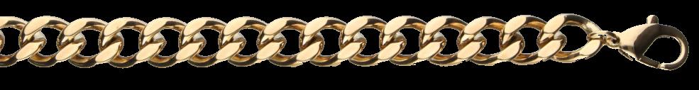 Bracelet Curb chain chain width 9mm