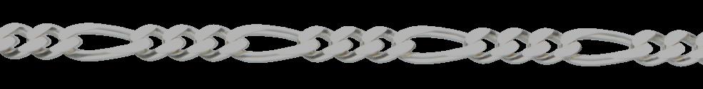Necklet Figaro diamond cut chain width 5.6mm