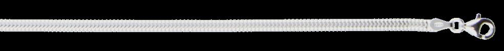 Collier Schlange oval Kettenbreite 2.8mm
