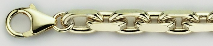 Bracelet Anchor diamond cut chain width 6.5mm