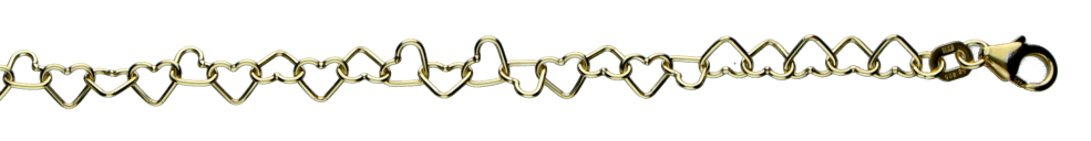 Necklet Heart-chain chain width 4.4mm