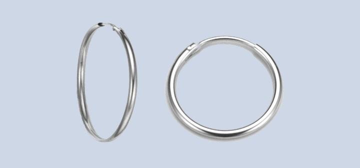 Earring ear hoops 1,5 mm