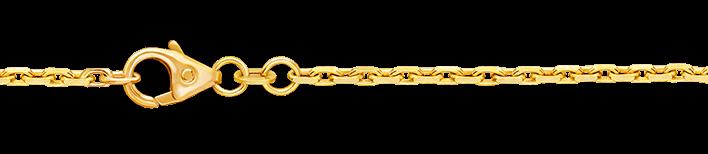 Necklet Anchor diamond cut chain width 1.8mm