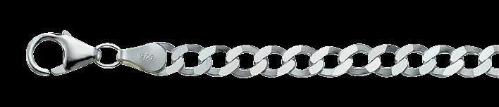 Bracelet Curb Chain chain width 4.5mm