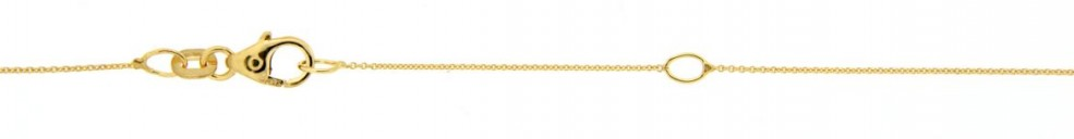 Necklet incl.loop Anchor round chain width 0.8mm