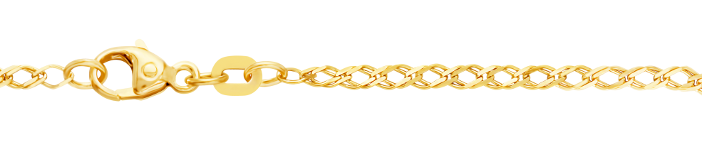 Necklet Twin curb chain chain width 2.1mm