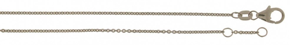 Bracelet incl.loop Anchor round chain width 1.1mm