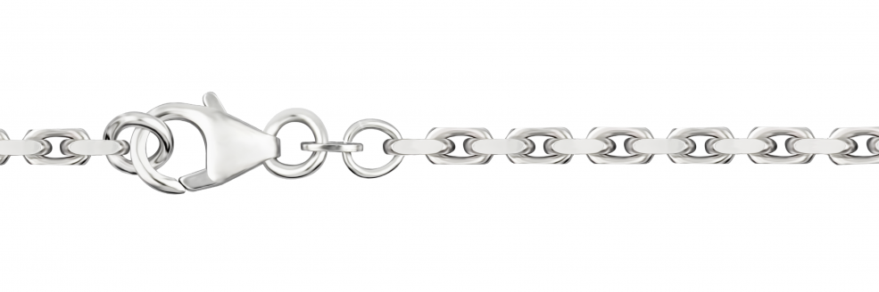 Necklet Anchor diamond cut chain width 2.5mm
