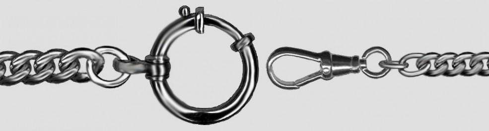 Watch chain Curb chain round graduate