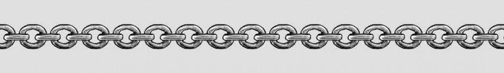 Necklet Anchor round chain width 4.7mm