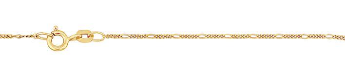 Necklet Figaro diamond cut chain width 1.1mm