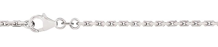 Bracelet Anchor diamond cut chain width 2mm