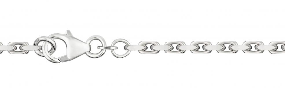 Bracelet Anchor diamond cut chain width 2.5mm