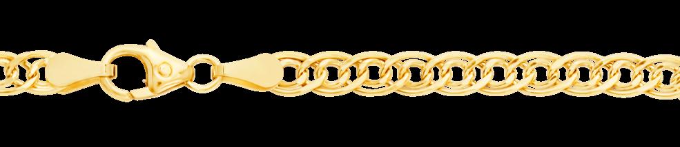 Bracelet Twin curb chain chain width 3.5mm