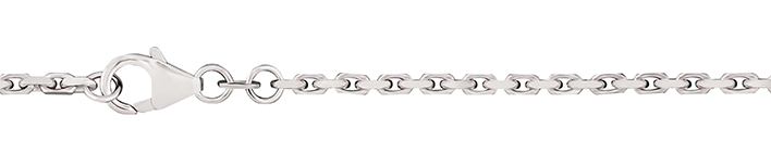 Necklet Anchor diamond cut chain width 2mm