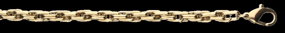 Bracelet Double anchor chain width 6mm