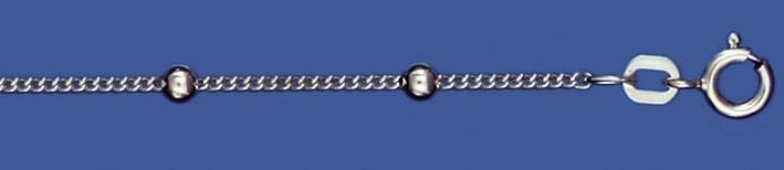 Necklet Curb chain round chain width 1.4mm