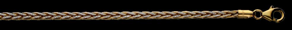 Bracelet Wheat chain hollow chain width 2.8mm