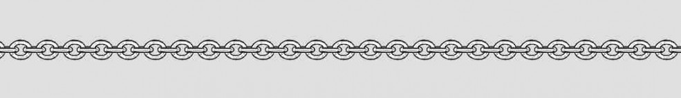 Necklet Anchor round chain width 2.8mm