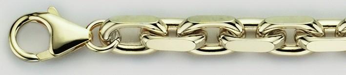 Necklet Anchor diamond cut chain width 6.5mm