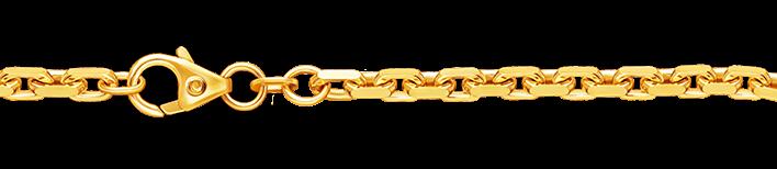 Bracelet Anchor diamond cut chain width 3mm
