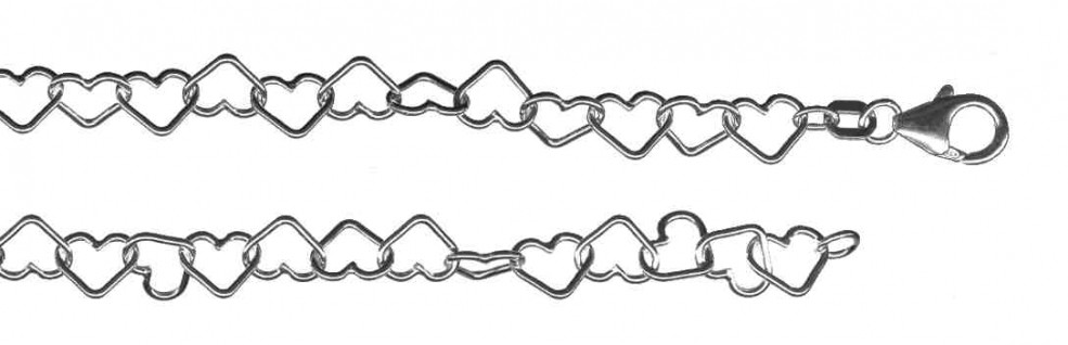 Armband Herz-Kette Kettenbreite 6.2mm