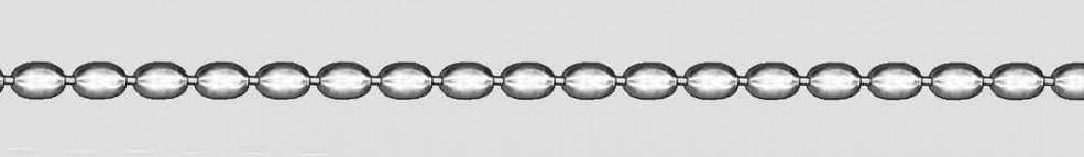Collier Oliven-Kette Kettenbreite 2.9mm