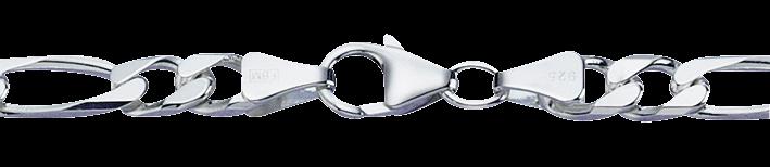 Collier Figaro diamantiert Kettenbreite 6mm